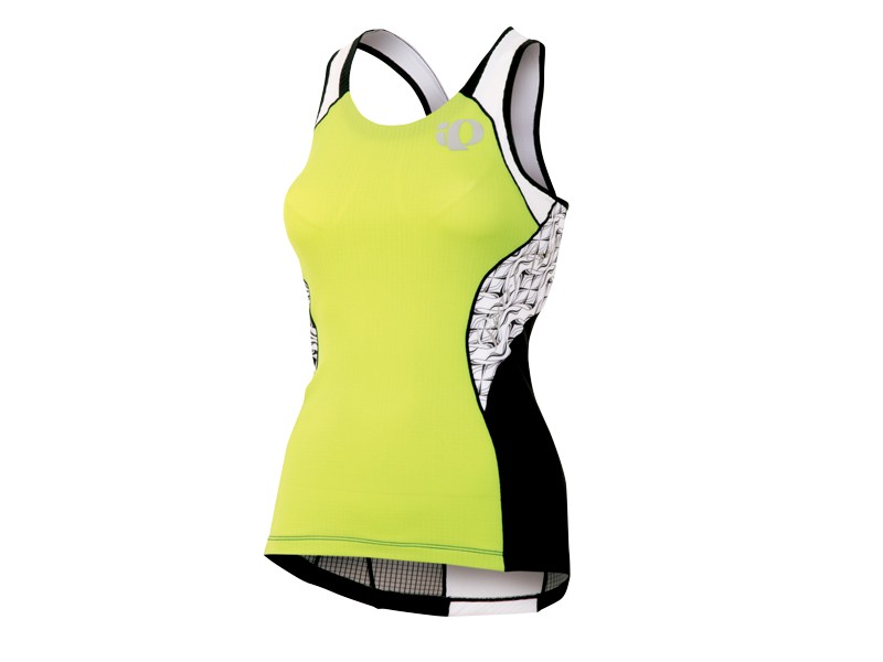 Pearl Izumi Elite In R Cool Triathlon Singlet Women's Size M Lime White U.S.A. & Canada
