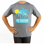 Puerto Rico Marathon Palm Trees Short Sleeve Workout Shirt - Men's