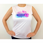 Puerto Rico Marathon Run In Paradise Sleeveless Workout Shirt - Women's