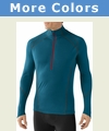 SmartWool NTS Light 195 Zip Long Sleeve Base Layer - Men's