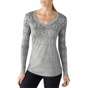 SmartWool V-Neck Long Sleeve Hiking Shirt - Women's