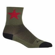 SockGuy Red Star 6 inch Cuff Socks