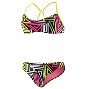 Speedo Dazed Maze Clip Back 2-Piece Swimsuit - Women's