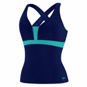Speedo Endurance Plus Color Blocked Cross Back Tankini - Women's