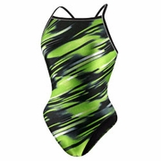 Speedo Fractal Point Fly Back Swimsuit - Girl's