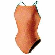 Speedo Geo Zebra Mesh Back Swimsuit - Women's