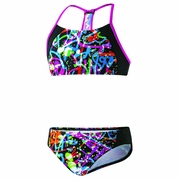 Speedo Graphic Graffiti Camikini Splice 2-Piece Swimsuit - Girl's