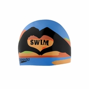 Speedo I Heart Silicone Swim Cap