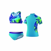 Speedo Jungle Rhythm 3-Piece Swimsuit - Girl's