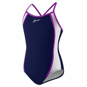 Speedo Mesh Splice Swimsuit - Girl's