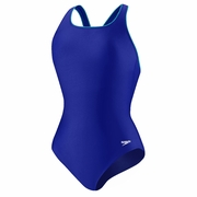 Speedo Piped Hydro Bra Ultra Back Swimsuit - Women's
