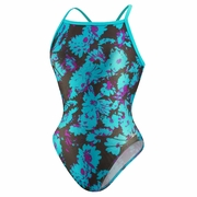 Speedo Poly Spandex Graphic Daisy Fly Back Swimsuit - Women's
