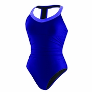 Speedo Shirred Contemporary Racer Back Swimsuit - Women's