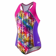 Speedo Snake Attack Side Splice Racerback Swimsuit - Girl's
