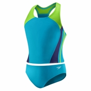 Speedo Solid Infinity Splice 2-Piece Swimsuit - Girl's
