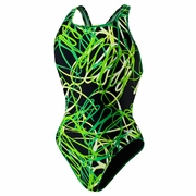 Speedo Spiral Curve Drop Back Swimsuit - Girl's