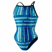 Speedo Star Mania Fly Back Swimsuit - Girl's
