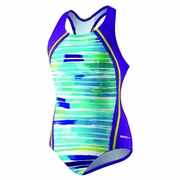Speedo Stripe Remix Sport Splice Swimsuit - Girl's