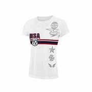 Speedo Team Phelps Jersey Short Sleeve Tee - Girl's