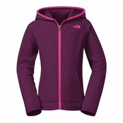 The North Face Glacier Full Zip Hooded Fleece Jacket - Girl's