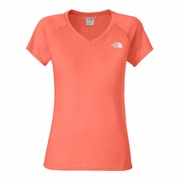 The North Face Short Sleeve Reaxion V-Neck Workout Shirt - Women's