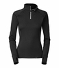 The North Face Warm Zip Neck Hangar Grey Long Sleeve Baselayer - Women's