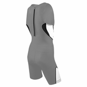 TYR Carbon Zipper Back Short John Padded Triathlon Suit - Men's