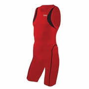 TYR Carbon Zipper Back Short John Triathlon Suit - Men's