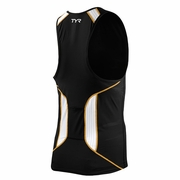 TYR Carbon Zipper Triathlon Tank - Men's