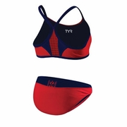 TYR Competitor Thin Strap Reversible 2 Piece Triathlon Swimsuit - Women's