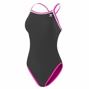 TYR Pink Hydraspan Reversible Brites Diamondfit Swimsuit - Women's