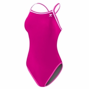 TYR Pink Hyrdaspan Reversible Brites Diamondfit Swimsuit - Women's