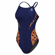 TYR Team Check Splice Diamondfit Swimsuit - Girl's