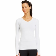 Under Armour ColdGear Infrared V-Neck Long Sleeve Workout Shirt - Women's