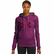 Under Armour Fleece Storm Embroidery Big Logo Hooded Sweatshirt - Women's