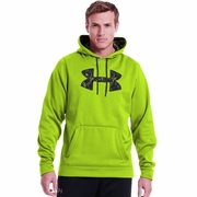 Under Armour Fleece Storm Pattern Big Logo Hooded Sweatshirt - Men's