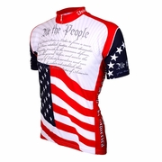 World Jersey US Constitution Short Sleeve Cycling Jersey - Men's