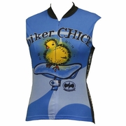 World Jerseys Biker Chick Sleeveless Cycling Jersey - Women's
