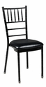 500 lb. Max Chiavari Black Chair with Black Vinyl Cushion [MB-700-CHIV-BLACK-CSP]