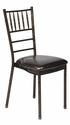 500 lb. Max Chiavari Chocolate Chair with Black Vinyl Cushion [MB-700-CHIV-AC-CSP]