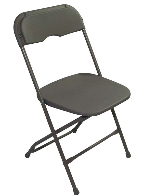 Champ Series Versatile Resin Wedding Folding Chair with Foot Caps Neutral