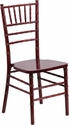 HERCULES Series Mahogany Wood Chiavari Chair with Free Cushion [XS-MAHOGANY-GG]