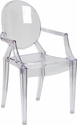 Ghost Chair with Arms in Transparent Crystal [FH-124-APC-CLR-XX-GG]