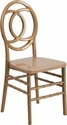 HERCULES INDESTRUCTO Series Gold Resin Royal Stacking Chair with Free Cushion [BH-ROYAL-GD-GG]