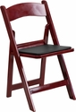 HERCULES Series 1000 lb. Capacity Mahogany Red Resin Folding Chair with Black Vinyl Padded Seat [LE-L-1-MAH-RD-GG]