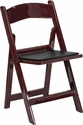 HERCULES Series 1000 lb. Capacity Red Mahogany Resin Folding Chair with Black Vinyl Padded Seat [LE-L-1-MAH-GG]