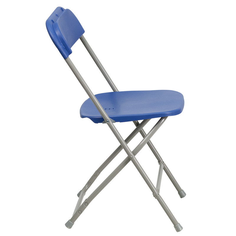 HERCULES Series 440 lb Capacity Premium Blue Plastic Folding Chair BH D0001