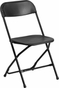 HERCULES Series 800 lb. Capacity Black Plastic Folding Chair [Y-L-9-BK-GG]
