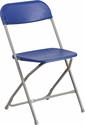HERCULES Series 800 lb. Capacity Premium Blue Plastic Folding Chair [LE-L-3-BLUE-GG]