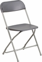 HERCULES Series 800 lb. Capacity Premium Grey Plastic Folding Chair [LE-L-3-GREY-GG]